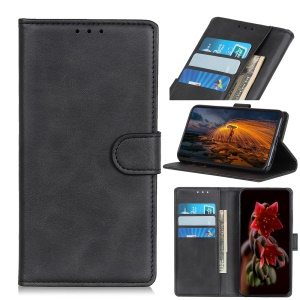 Matte Skin PU Leather Flip Stand Mobile Phone Shell for Huawei Honor 8S - Black