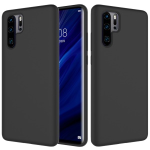 Liquid Silicone Mobile Phone Casing for Huawei P30 Pro - Black