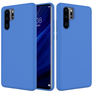 Liquid Silicone Mobile Phone Casing for Huawei P30 Pro - Dark Blue