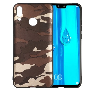 For Huawei Y9 (2019) / Enjoy 9 Plus (China) Camouflage Pattern TPU Mobile Phone Shell - Grey