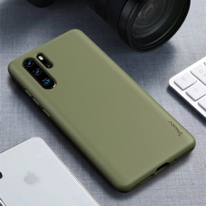 IPAKY Matte Wheat Straw TPU Protection Phone Casing for Huawei P30 Pro - Army Green