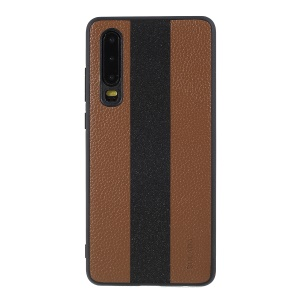 SULADA for P30 Litchi Texture PU Leather TPU Protection Phone Case - Brown