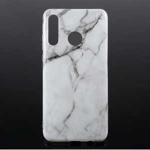 Marble Pattern Glossy IMD TPU Case for Huawei P30 Lite New Edition/P30 Lite/nova 4e - Style C