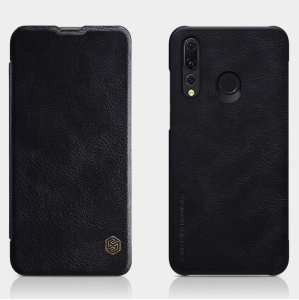 NILLKIN Qin Series Leather Card Holder Case for Huawei P Smart Plus 2019 / Enjoy 9s / Honor 10i / nova 4 lite - Black