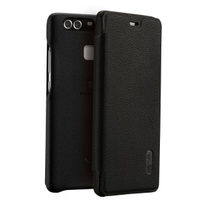 LENUO Ledream Slim Flip Leather Cover for Huawei P9 - Black
