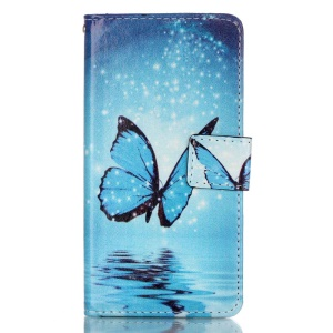Leather Wallet Stand Phone Case for Huawei P9 - Butterfly