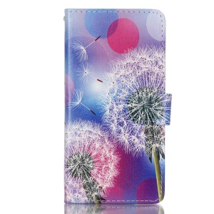 Leather Wallet Stand Case for Huawei P9 - Dandelion