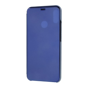 View Window Plated Mirror Surface Leather Stand Case for Huawei nova 3i / P Smart Plus (2018) - Baby Blue