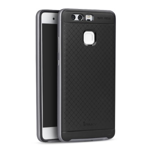 IPAKY 2-piece PC bumper + TPU Back Cover for Huawei P9 - Grey
