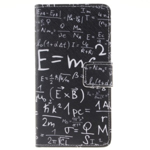Pattern Printing Leather Wallet Case Cover for Huawei P9 Lite - Mathematics Formula