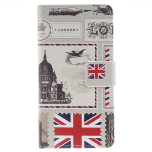 Pattern Printing Leather Wallet Flip Shell for Huawei P9 Lite - British Feature
