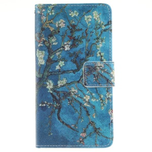 Wallet Leather Phone Case for Huawei P9 Lite - Tree with Flowers