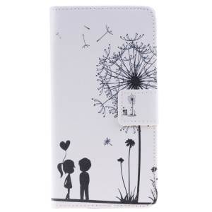 Flip Leather Wallet Stand Case for Huawei P9 - Dandelion and Lover