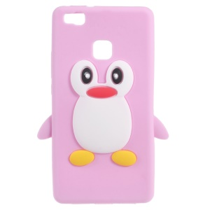 3D Penguin Soft Silicone Skin Case for Huawei P9 Lite - Pink