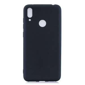 Candy Color Soft TPU Phone Case for Huawei Y7 (2019) - Black