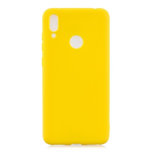 Candy Color Soft TPU Phone Case for Huawei Y7 (2019) - Yellow