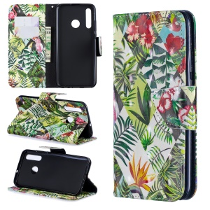 Pattern Printing Light Spot Decor Leather Wallet Case for Huawei P Smart Plus 2019 / Enjoy 9s/ Maimang 8 / Honor 10i - Leaves