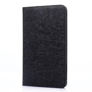 Lines Texture Stand Leather Case for Huawei MediaPad M2 7.0 - Black