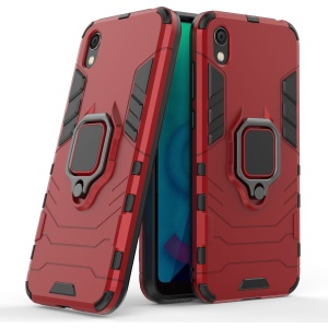 Cool Guard Ring Holder Kickstand PC TPU Hybrid Case for Huawei Honor 8S / Y5 (2019) - Red