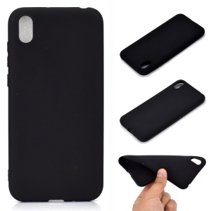 Solid Color Matte TPU Soft Mobile Phone Cover for Huawei Honor 8S / Y5 (2019) - Black