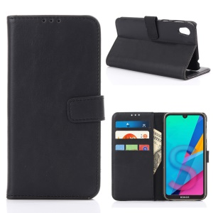 Crazy Horse Texture Retro Leather Flip Case for Huawei Honor 8S - Black