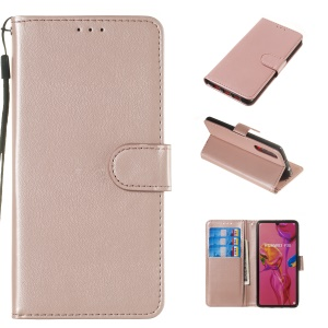 Wallet Leather Stand Case for Huawei P30 - Rose Gold