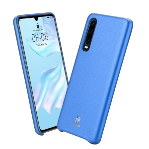 DUX DUCIS Skin Lite Series PU Leather Coated PC Phone Casing for Huawei P30 - Blue