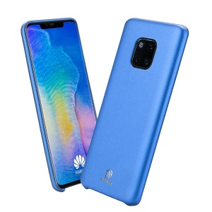 DUX DUCIS Skin Lite Series PU Leather Coated PC Phone Casing for Huawei Mate 20 Pro - Blue