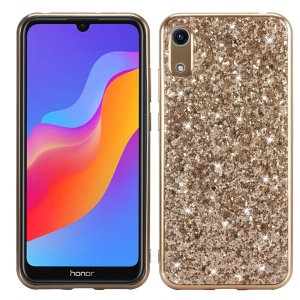 Shiny Sparkle Star Glittery Sequins PC+TPU Material Cover for Huawei Y6 (2019, without Fingerprint Sensor) / Y6 Pro (2019) - Gold