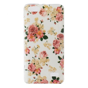 IMD Soft TPU Skin Case for Huawei Honor 4C - Blooming Flowers