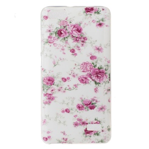 IMD Soft TPU Skin Shell for Huawei Honor 4C - Fresh Flowers