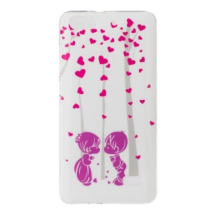 IMD Soft TPU Back Cover Case for Huawei Honor 4C - Sweet Lover