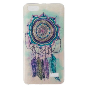 IMD Soft TPU Case Protector for Huawei Honor 4C - Dream Catcher Feather