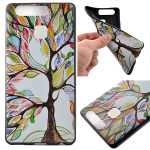 Flexible TPU Protective Case for Huawei P9 - Colorized Tree