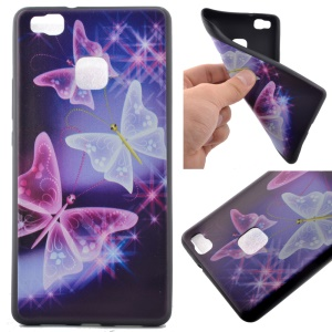 Soft TPU Case for Huawei P9 Lite - Vivid Butterflies