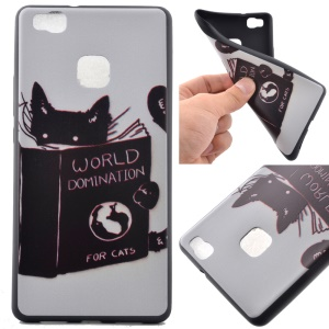 Soft TPU Shell Case for Huawei P9 Lite - World Domination for Cats