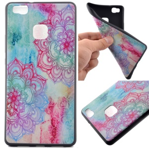 Soft TPU Phone Case for Huawei P9 Lite - Henna Lotus