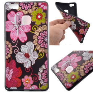 Soft TPU Case Cover for Huawei P9 Lite - Beautiful Flowers