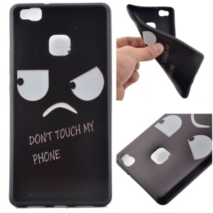 Soft TPU Cover Case for Huawei P9 Lite - Two Big Eyes