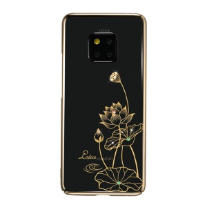 KINGXBAR Authorized Swarovski Crystal Plating PC Hard Cover for Huawei Mate 20 Pro - Lotus