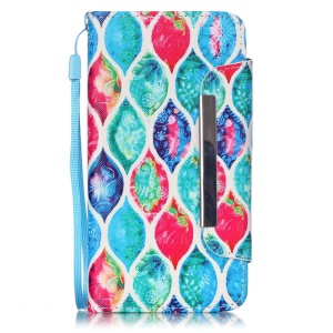 Patterned Leather Wallet Stand Case for Huawei Honor 4A / Y6 - Colorful Leaves