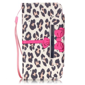 Patterned Wallet Stand Leather Case for Huawei Honor 4A / Y6 - Leopard Texture