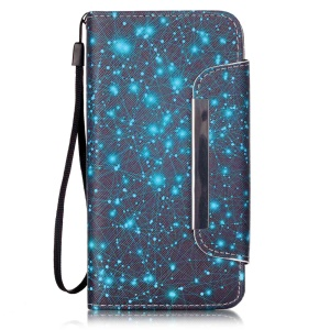 Patterned Wallet Leather Stand Cover for Huawei Honor 4A / Y6 - Constellation