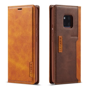 LC.IMEEKE LC-001 Leather Card Holder Case for Huawei Mate 20 - Brown