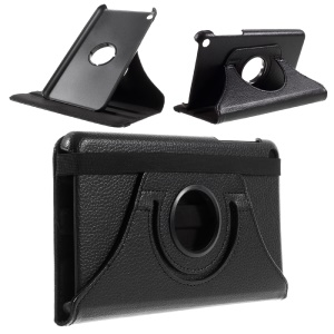 Litchi Texture Rotating Stand Leather Smart Case for 	Huawei Honor Tablet T1 7.0 (T1-701u) - Black