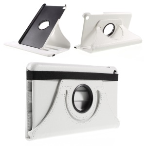 Litchi Texture Rotating Stand Leather Tablet Cover for Huawei Honor Tablet T1 7.0 (T1-701u) - White