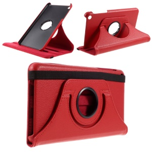 Litchi Texture Rotating Stand Leather Tablet Shell for 	Huawei Honor Tablet T1 7.0 (T1-701u) - Red