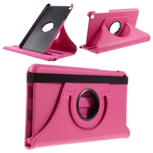 Litchi Texture Rotating Smart Leather Stand Case for 	Huawei Honor Tablet T1 7.0 (T1-701u) - Rose