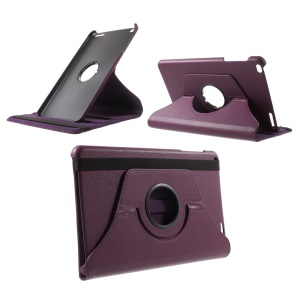 Litchi Grain Rotary Stand Case for Huawei MediaPad T1 10 - Purple