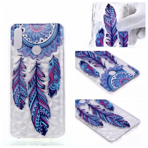 Embossed Pattern 3D Diamond Texture Soft TPU Back Case for Huawei P10 Lite / P Smart (2019) / Nova Lite 3 (Japan) - Dream Catcher